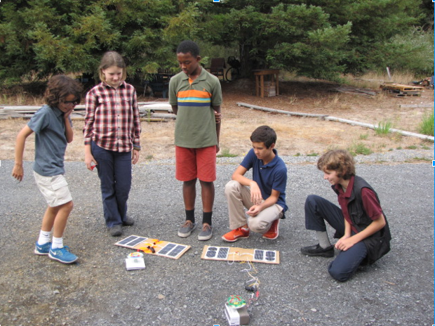 Montessori middle school solar chargers
